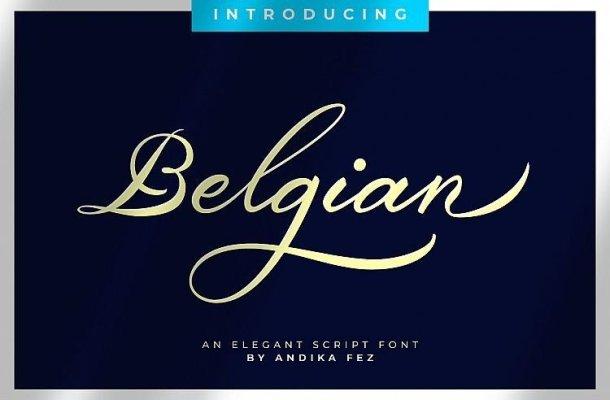 Belgian Signature Font