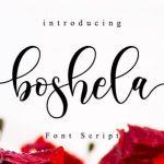Boshela Calligraphy Font