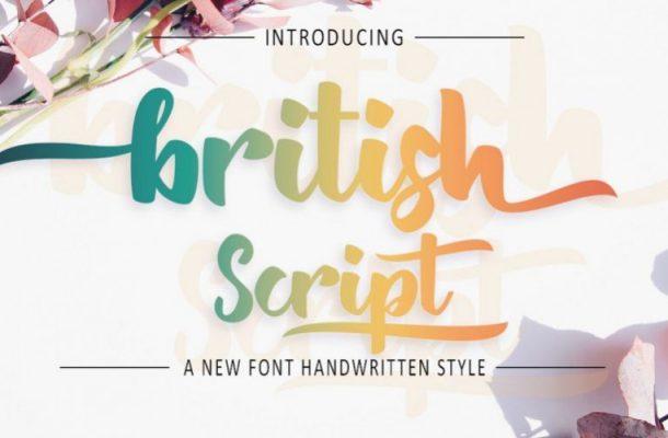 British Script Font