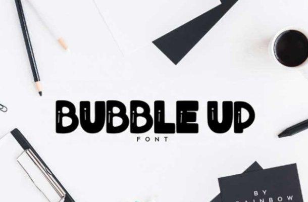 Bubble Up Font