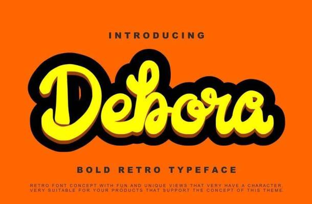 Debora Retro Handwritten Script Font