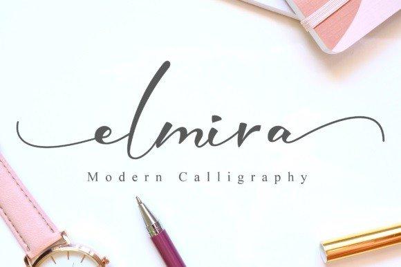 Elmira Calligraphy Font