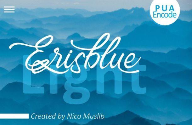 Erisblue Light Font
