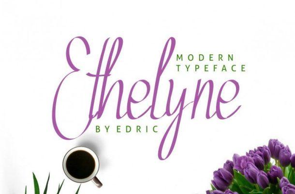 Ethelyne Script Font