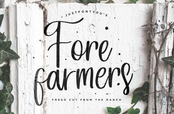 Forefarmers Rustic Casual Vintage Font
