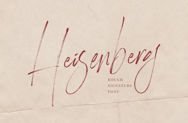 Heisenberg Signature Font