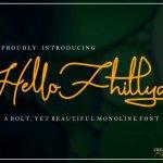 Hello Fhillya Free Script Font