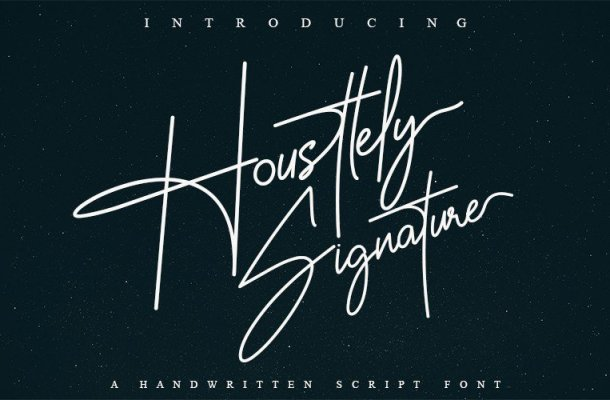 Housttely Signature Font