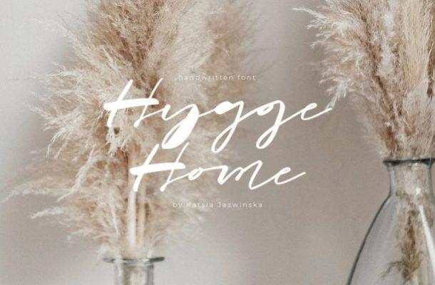 Hygge Home Brush Font