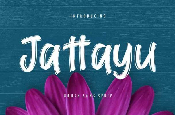 Jattayu Sans Serif Brush Font