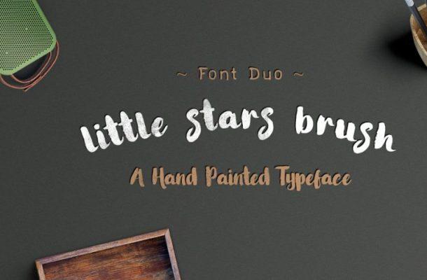 Little Stars Brush Font