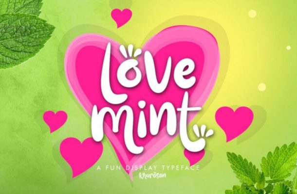 Love Mint Fun Display Font