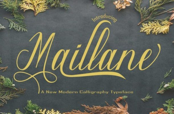 Maillane Calligraphy Font