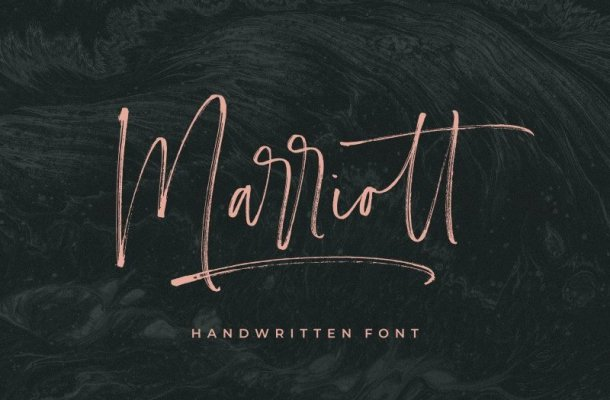 Marriott Handwritten Font