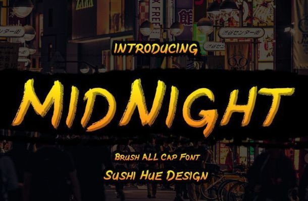 MidNight Brush Font