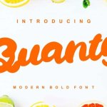Quanty Modern Script Bold Font