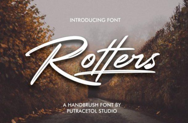 Rotters Brush Font