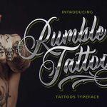 Rumble Tattoos Typeface