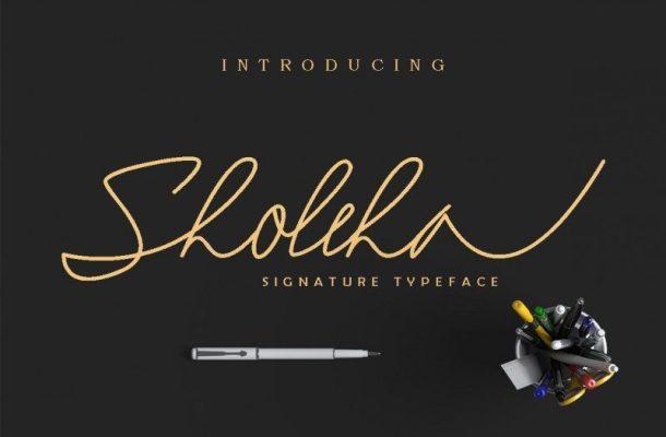 Sholeha Signature Font