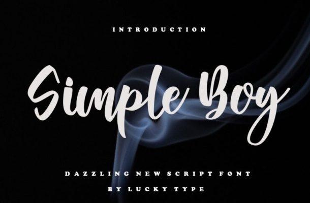 Simple Boy Script Font