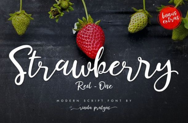 Strawberry Red One Script Font