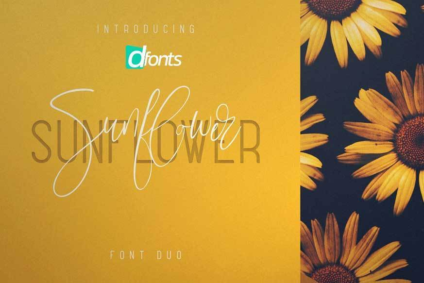 Sunflower font duo all free fonts - Total 3d home design free download ...