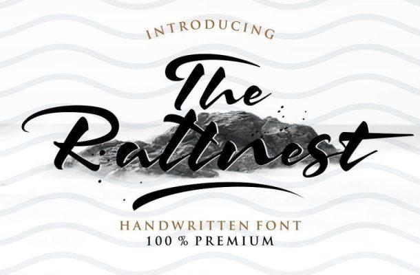 The Rattnest Brush Font