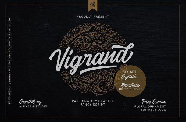 Vigrand Script Font Family