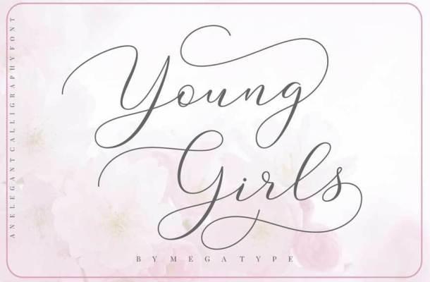 Young Girls Script Font