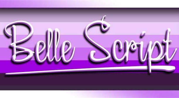 Belle Script Font