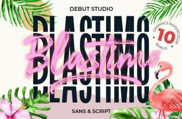 Blastimo Sans & Script Font