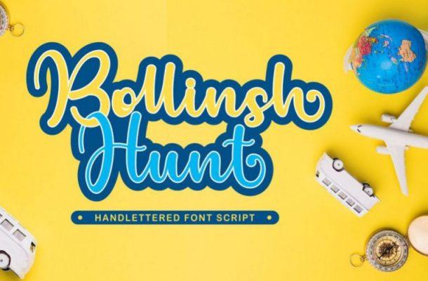 Bollinsh Hunt Bold Script Font