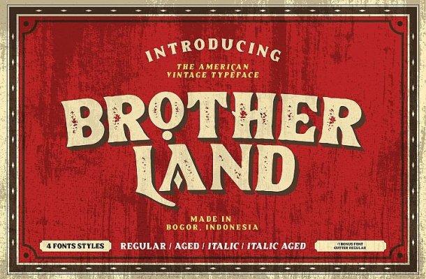 Brotherland Vintage Font Demo