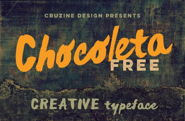 Chocoleta Brush Font