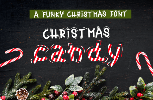 Christmas Candy Font