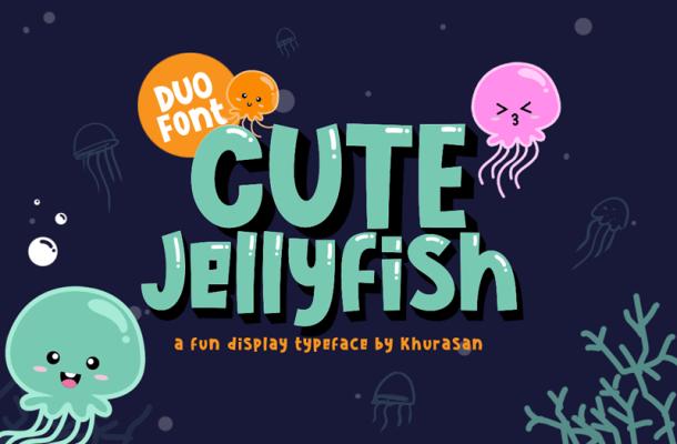 Cute Jellyfish Font