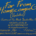 Far From Homecoming Font