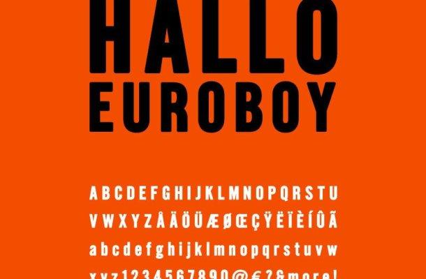 Hallo Euroboy Font