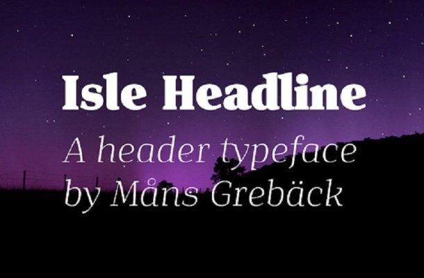 Isle Headline Font