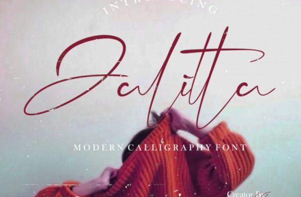 Jalitta Free Modern Calligraphy Font