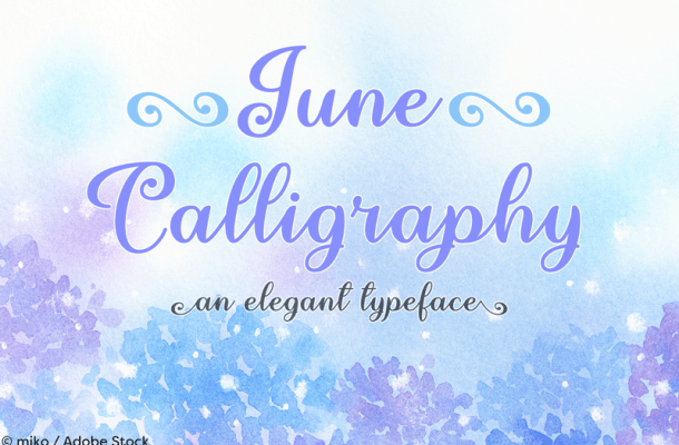 June Calligraphy Font