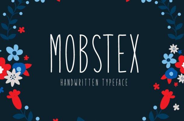 Mobstex Handwritten Font