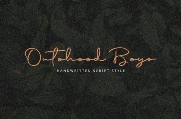 Ontohood Handwritten Font