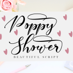 Poppy Shower Font
