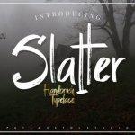 Slatter Brush Font