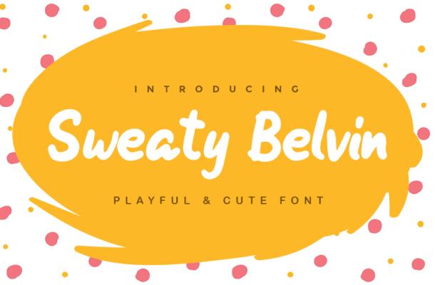 Sweaty Belvin Font