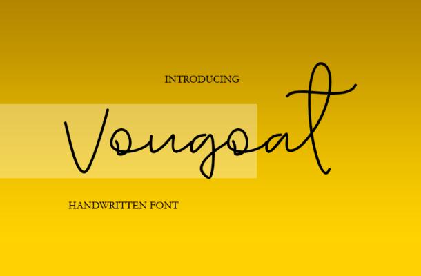 Vougoat Font