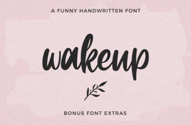 Wakeup Handwritten Font