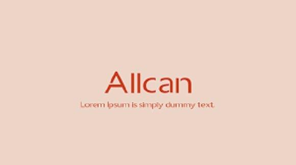 Allcan Display Font