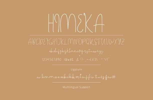 Himeka Script Font